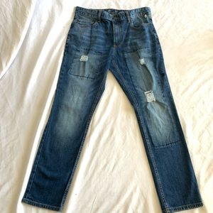 American Rag Dark Wash Distressed Denim Jeans